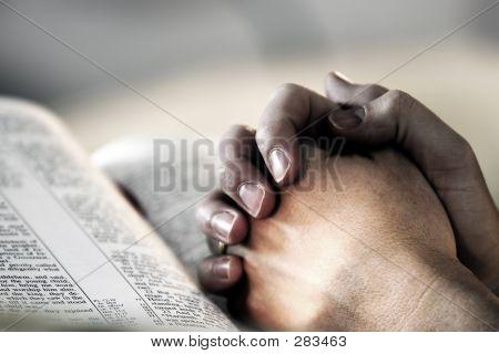 Hände Bibel beten