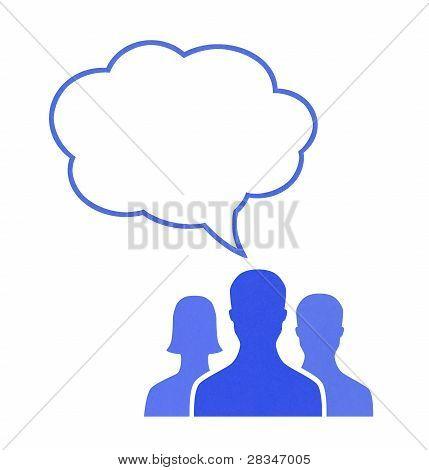 Teamwork Communication Concept
