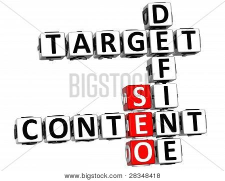3D Define Target Content Crossword