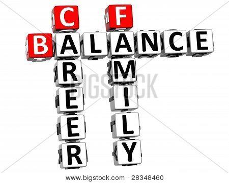 3D equilibrio vida familiar Crucigrama