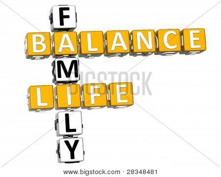 3D Balance Life Family Crossword