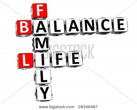 3D Balance Life Family Crossword