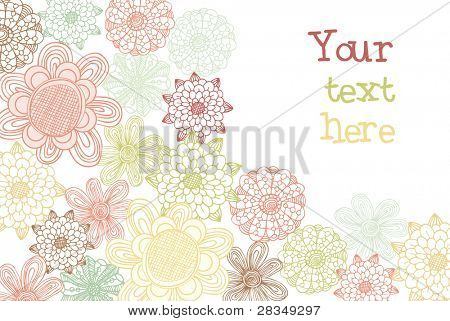 Decorative flower card