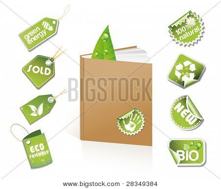 Book - eco idea with stickers and tags