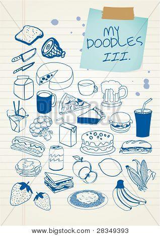Doodle conjunto 3 - alimentos