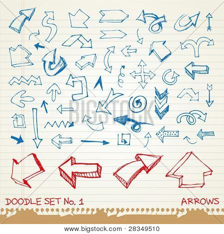 Doodle set 1 - flechas