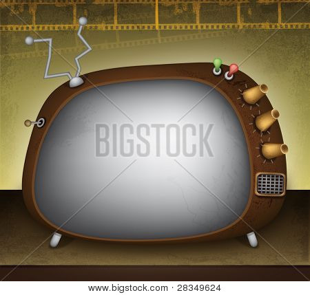 Retro television illustration