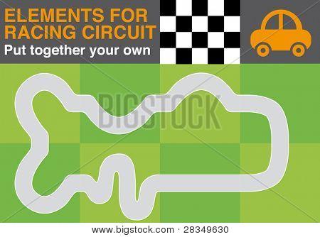 Racing circuit elements