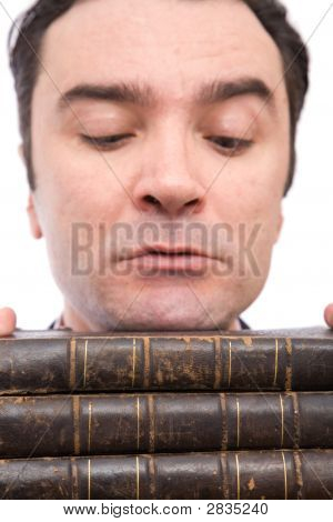 Businessman And Books
