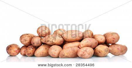 Patatas aisladas en blanco
