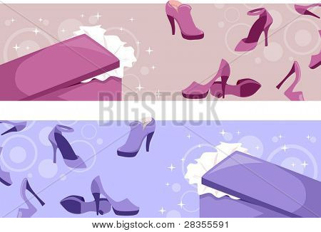 Header Illustration Featuring Shoes