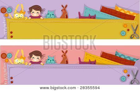 Header Illustration Featuring Plush Crafts