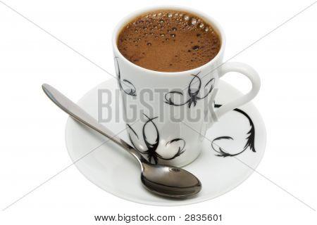 Weiße Tasse von Kaffee