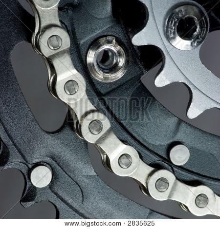 Mtb Crankset With  Chain