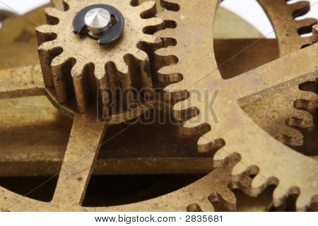 Antique Clock Gears Macro