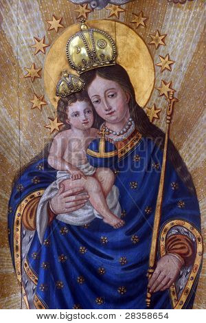 Blessed Virgin Mary with baby Jesus
