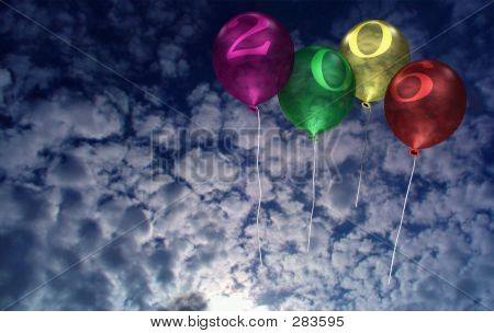 2006 New Year Balloons