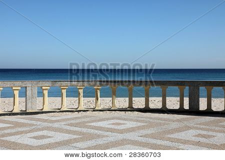 Promenade and beach of traditional seaside resort of Sousse, Tunisia