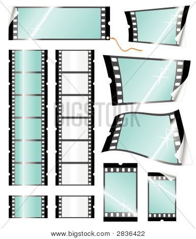 Camera Filmstrip Retail Tags And Stickers