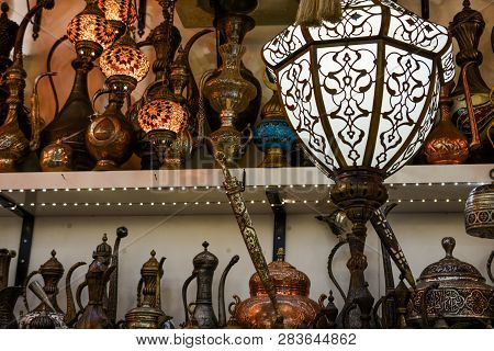 Mosaic Ottoman Lamps From Grand