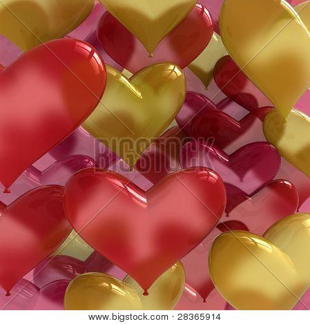 Love Balloons Heart Shaped