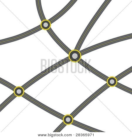 web of ashalted roads