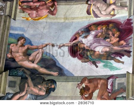Rome Sistine Chapel Creation Of Adam