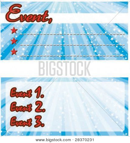Sample for Event Card or Coupon with Happy Celebrations on shiny blue background