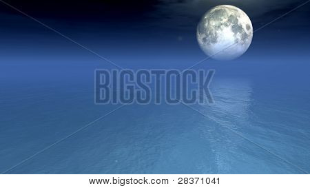 moonlit lake 3d