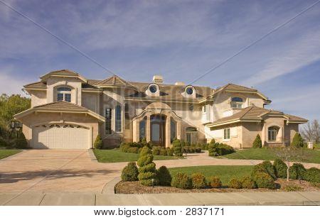 Executive Mansion With Circular Driveway