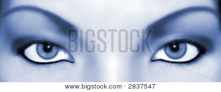Abstract Eyes Bluish