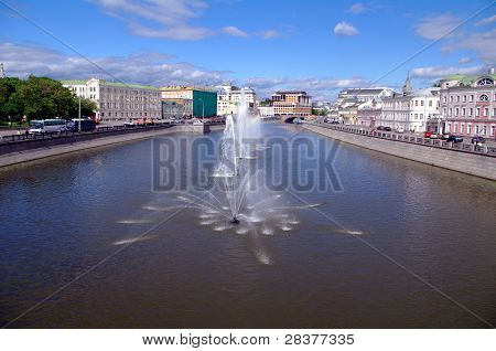 Fountains In Obvodnii Chanel, Moscow, Russia