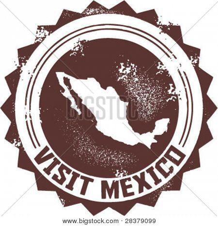 Besuchen Sie Mexiko Vintage Stempel