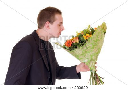 Teen com Bouquet de flores