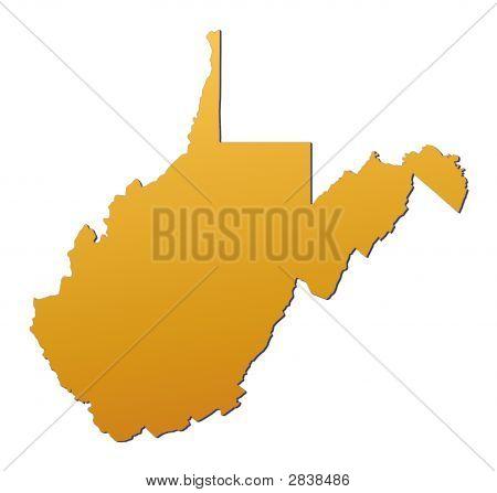 West Virginia (Usa) Karte
