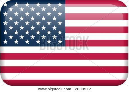 Vereinigte Staaten von Amerika Flagge Button