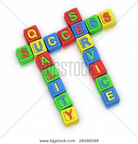 Crossword Puzzle : Success Quality Service