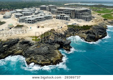 A hotel is under construction. The Dominican Republic.