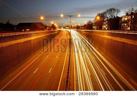 Traffic Road At Night
