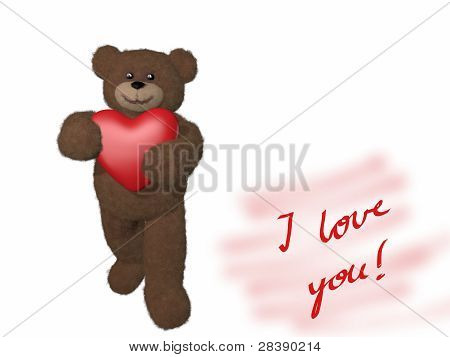Teddy Bear Giving Heart