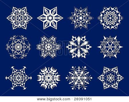 white snowflakes kirigami