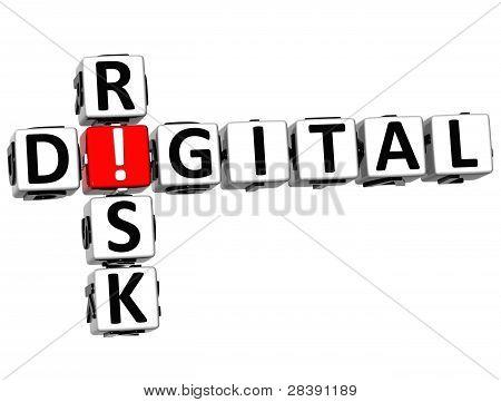 Palavras cruzadas de risco Digital 3D