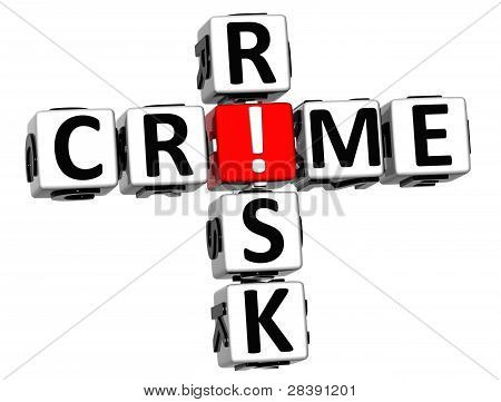 3D Crime Risk Crossword