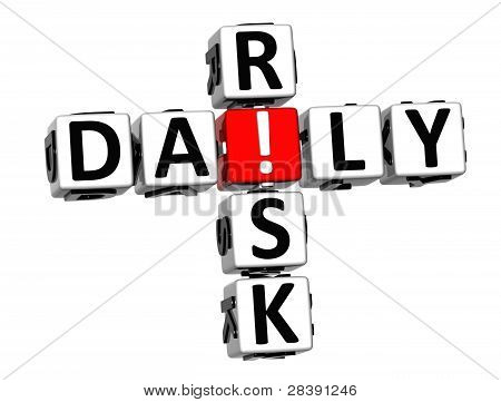 3D Daily Crossword de risco