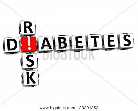 3D Diabetes Risk Crossword