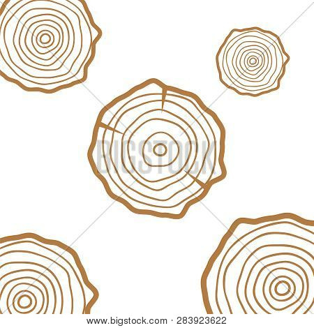 Tree Rings Background Saw Cut