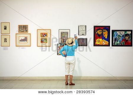 Paintings In An Exhibition