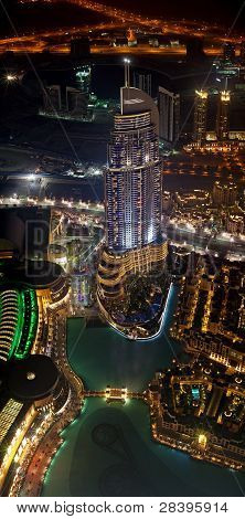Bird's eye view of Address Hotel in Dubai
