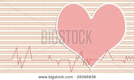 Medical Abstract Background Showing An Ecg Heart