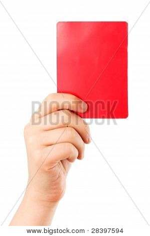 Red Card In Hand